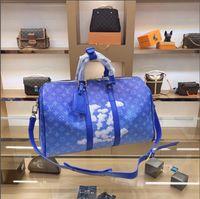 Wholesale shape backpacks resale online - 2020 new ladies large capacity blue cloud pillow shape crossbody bag backpack fashion simple wild bag