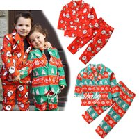Wholesale baby 3pcs clothing set trousers resale online - Christmas Baby Boy Clothing Sets Snowman Snowflake Printed Suit Tie Long Sleeves Top Trousers set Kids Christmas Outfits M241