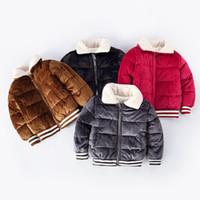 продажа длинных зимних пальто девочек оптовых-Hot Sale Fashion Baby Girls Coats Jackets Winter Long Sleeve Outerwear Snowsuit Kids Warm Thick Coats Children's Clothing