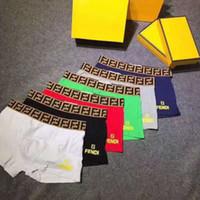 Wholesale brand men cotton boxers resale online - Designer Brand Mens Underwear Boxers Luxury Fends FF Letter Breathable Soft High Quality Shorts pants Men boys Underpants Colors A6503