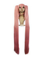 Wholesale straight pink cosplay wig for sale - WIG New Charm Fashion Sakura Miku Cosplay Anime Wigs Costume Party Long Straight Pink Wigs Full Hair