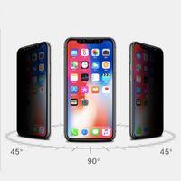iphone için gizlilik ekran koruyucuları toptan satış-Gizlilik Ekran Koruyucu Için iPhone X XS MAX XR Koruma Filmi Temperli Cam iPhone 6 S 7 8 Artı Anti-Casus Anti-glare Tam Ekran