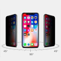 pantalla completa privacidad vidrio templado al por mayor-Protector de pantalla de privacidad para iPhone X XS MAX XR Película de protección Vidrio templado para iPhone 6S 7 8 Plus Anti-Spy Antideslumbrante Pantalla completa