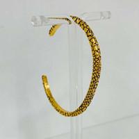 brazalete amarillo al por mayor-Nueva moda brazaletes para las mujeres pulsera de cuentas de joyería chapado en oro amarillo tamaño abierto brazaletes bonito regalo