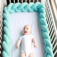 Wholesale bumper kids for sale - Group buy INS Knit Crib Fence Denmark Knot Cushion Pillow Sleeping Support Baby Bed Crib Fence Bumper Kid Room Decoration Toys GGA1874