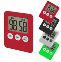 contar el reloj al por mayor-Contador de Tiempo Digital LED de 7 colores Cocinar Conde reloj de cuenta atrás encima del imán de alarma Herramientas de cocina electrónica OA6532