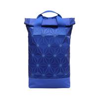 grande safira azul venda por atacado-Sapphire Azul Simples Casual Grande Capacidade Rhombic Bag Personalidade Geométrica Versátil Ombros Tendência Da Moda Estudante Saco Do Computador jooyoo