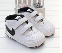 Wholesale baby girl first walk shoes for sale - Group buy Unisex Baby Shoes Toddler Casual Sport Pu Shoes Infant Sneakers Newborn Soft Bottom First Walk Non slip M Boys Girls Shoes
