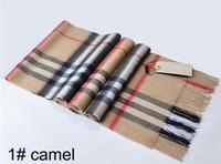 унисекс подарки на рождество оптовых-Unisex Design Womens 100% Кашемировый Шарф Высокое качество мужские шарфы Классические женские Шарфы Wrap 180x30cm на Рождественский Подарок TN7701