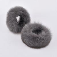 Wholesale wrist fur cuff for sale - Group buy Fashion Winter Women Real Raccoon Fur Hand Wrist Warmer Cuffs Natural Brown One pair
