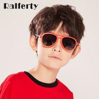 ingrosso occhiali da sole per bambini-Ralferty Ultra-light del bambino di modo occhiali da sole polarizzati flessibile Pilot Occhiali da sole bambini UV400 esterna Goggles Shades K18042
