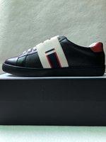raya marrón al por mayor-Nuevo hombre de lujo mujer as zapatillas con rayas de elasticidad marrón zapatos de diseñador de lujo de alta calidad blanco negro tamaño 34-46