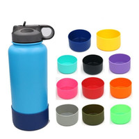Wholesale vacuum silicone cupping resale online - Silicone Cup Cover Stainless Steel Water Bottle Sleeve Vacuum Cups Covers High Quality Portable Outdoor xy Ww