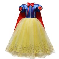 Wholesale girls fancy clothes for sale - Group buy 4 Years Fancy Cosplay Princess Snow White Costume Girls Dress For Holiday Halloween Gown Christmas Role play Kid Girl Clothes J190505
