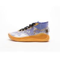 kd mor basketbol ayakkabıları toptan satış-Satılık Ne kd 12 basketbol ayakkabı Mens Akademi Sarı Çiçek Mor Serin Gri lebron 17 kevin durant kutusu ayakkabı ile sneakers çizmeler