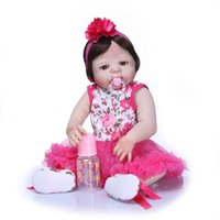 Wholesale reborn toddlers for sale - Group buy Bebe Reborn Handmade Full Silicone vinyl Adorable Lifelike Toddler Baby Bonecas Girl Bebe Doll Reborn Menina de Silicone Toys