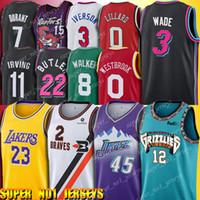 iverson trikots großhandel-12 Ja Morant Trikot Donovan 45 Mitchell Kawhi 2 Leonard Trikots Dwyane Wade 3 LeBron 23 James Walker Carter Westbrook Durant Irving Iverson