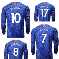 Wholesale thai clothing for sale - Group buy Long Sleeve customized Willian MARCOS A Kanté Pedro Thai Quality sports jerseys PULISIC Abraham BAKlEY fan clothing