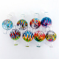 Wholesale glass carb caps resale online - Colorful US Colors Carb Cap Glass Bubble Carb Cap Cyclone Spinning carb caps for quartz banger Nails terp pearl bong dab rig water pipe