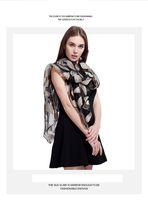 пернатый шарф оптовых-Новые Taobao горячие продажи шарф женские весенние и летние перья Европы и США популярной моды солнцезащитный крем шелковый платок леди шарф
