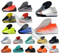 Wholesale outdoor boys soccer shoes resale online - Mercurial Superflyx Vi Elite Ic In Indoor Outdoor Mens Women Boys Soccer Shoes Cr7 Ronaldo Neymar Njr Football Boots Cleats Size