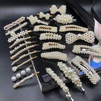 ingrosso disegni perla nera-Design nero Belle perle simulate Forcine per capelli Gioielli per capelli Banana Fermacapelli Accessori per donna