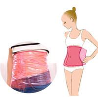 göbek cesedi toptan satış-Sauna Zayıflama Bel Kemeri Kadın Vücut Şekillendirici Bel Cinchers Bacak Şekillendirme Wrap PVC Göbek Yanık Yağ Kaybetmek Ağırlık Şekil Up Zayıflama Kemeri A42301