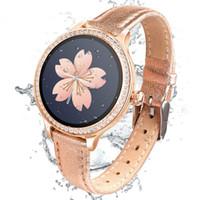 Wholesale luxury smart watch ios online – Luxury M8 smart watch women gold Milanese smart bracelet Activity fitness tracker electronics wristwatch heart rate blood pressure For Ios