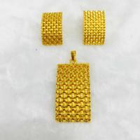 accesorios de pavo al por mayor-Yulaili Classic Rhinestone Turkey Square Colgante Collar Pendientes Dubai Conjuntos de joyería para mujeres Fiesta Accesorios de boda