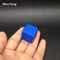 yığın oyunu toptan satış-B183 / 1 adet 2.5 cm Mavi Renk Ahşap Küp Jenga Blokları Beceri Yığını Yetiştirilen Oyuncaklar Kule Çöküyor Oyunları Çocuklar Hediyeler