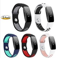 Wholesale silicone wristband sports watch for sale - Group buy Mesh Hole Loops Dual Colors Replacement Soft Silicone Wrist Bracelet Sport Band Smart Watch Strap For Fitbit Inspire