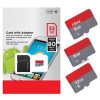 mikro sınıf toptan satış-Gerçek Kapasite 32 GB 16 GB 8 GB Ultra Mikro SDHC UHS-I Kart Mikro SD Kart Sınıf 10 Adaptörü Ile 80 MB / s 553X sd kartlar sürücü depolama