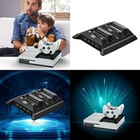 Wholesale xbox one fan resale online - Black Vertical Cooling Fan Ports USB HUB for Xbox One S gamepad Xbox One Accessories
