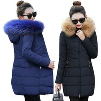 ropa de nieve mujer al por mayor-chaqueta mujer chaqueta de mujer nueva 2018 chaqueta de invierno mujer ropa gruesa de nieve abrigo de invierno ropa de mujer chaquetas femeninas parkas