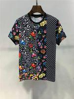 t-shirt druckgröße großhandel-2019 Sommer neue Ankunft Top-Qualität Designer Bekleidung Herrenmode T-Shirts Medusa Print Tees Größe M-3XL 6214