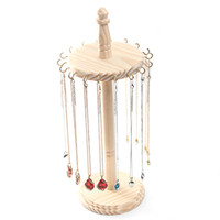 [DDisplay]Creative DIY Wooden Necklace Display Organizer Solid Wood Pendant Display Nature Jewelry Holder Earring Hookers Jewelry Storage