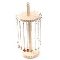 collar de joyas de bricolaje al por mayor-[DDisplay] DIY collar de madera Pantalla Organizador colgante de madera maciza de visualización Naturaleza joyería del sostenedor creativo Almacenamiento pendiente Putas joyería