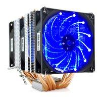 775 lüfter großhandel-Hochwertige 6 Heatpipe Dual-Tower-Kühlung 9 cm Lüfter unterstützt 3 Lüfter 4PIN CPU-Kühler 775 115X 1366 2011 AM3 AM4 FM1 FM2 Ryzen