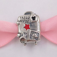 Wholesale european suitcase for sale - Group buy Authentic Sterling Silver Beads Disny Miky And Miny Vacay Mode Suitcase Charms Fits European Pandora Style Jewelry Bracelets Neckla