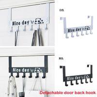gancho para porta suspensão venda por atacado-Criativo Over-The-Door-Hook Rack 6 Ganchos Cabide Cabide Toalha De Roupas Pendurado Removível 2 cores opcional