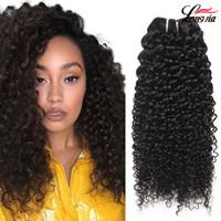 grau de cabelo indiano venda por atacado-Grau 8a indiano kinky curly hair bundles 100% cabelo humano encaracolado extensão não remy cabelo virign indiano