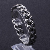 Wholesale huge jewelry sets resale online - Vintage stainless steel Casting Link chain bracelet Men s Punk jewelry Heavy huge high quality mm g
