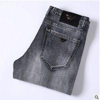 ingrosso uomini caldi dei jeans del progettista-Vendita calda Mens Designer Jeans sottili jeans stretch stretch pantaloni diritti maschili Slim Cowboy Famous jeans classici