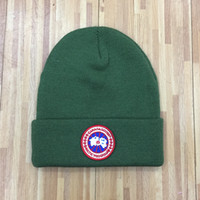 knitted hats 도매-도매 최고 뜨거운 판매 캐나다 브랜드 BEANIE 겨울 남성 니트 모자 클래식 스포츠 두개골 모자 여성 캐주얼 야외 GOOSE 비니
