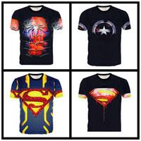 cyclisme t shirts hommes achat en gros de-Marvel dc hero impression 3D couple T-shirt T-shirt Femme T-shirt décontracté d'été pour homme