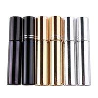 boş metal parfüm şişesi toptan satış-Mini Taşınabilir Doldurulabilir Parfüm Sprey Şişeleri Seyahat Boş Atomizer Şişeleri Kozmetik Kapları Şişeleri 10 ml RRA1316