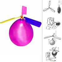 fliegende spielzeugflugzeuge großhandel-2019 Flying Balloon Helicopter Spielzeug Ballonflugzeug Spielzeug Kinder Spielzeug selbst kombinierter Ballonhubschrauber Kind Geburtstag Xmas Party Bag Geschenk C33