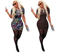 ingrosso sacchetti di paillettes lavorati a maglia-Mini abiti sexy da donna Abiti estivi Gonne a manica corta Taglie forti Night Club Abiti S-2XL Stampa Lettera Girocollo Gonne corte 00