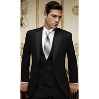 ingrosso abbigliamento sposo-Abiti da uomo su misura abiti da uomo Smoking da sposo Abiti da uomo Best Groomsman da uomo Abiti da sposo Bridgroom (Jacket + Pants + Vest)