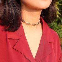 ethnische halskette legierung großhandel-Europäische Damenschmuck Einfache ethnische Art einzelne Schicht Personalisierte wilde Legierung Shell Damen Halskette Fußkettchen